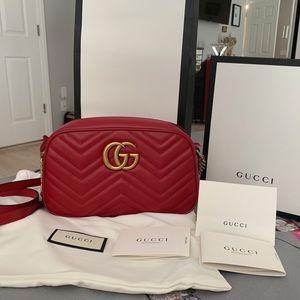 NWT Gucci GG Marmont small matelassé shoulder bag